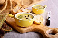 Pate covered with fat Stock Photos