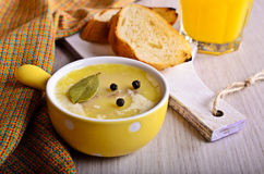 Pate covered with fat Stock Image