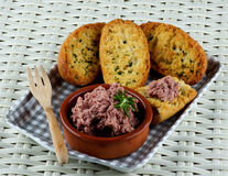Pate with Crispy Bread Royalty Free Stock Photography