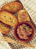 Pate with Crispy Bread Stock Image