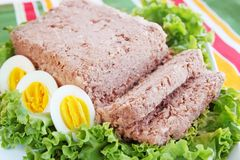 Pate with eggs Royalty Free Stock Photo