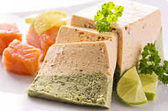 Pate made of Salmon and Spinach Royalty Free Stock Photography