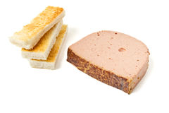Pate n Toast Royalty Free Stock Photos