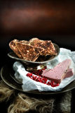 Pate with Pomegranate Stock Photography