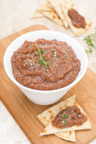 Pate of roasted eggplant and tomato, top view Royalty Free Stock Photo