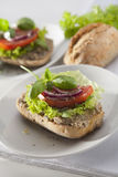 Pate Sandwich on Cutting Plate. Royalty Free Stock Photo