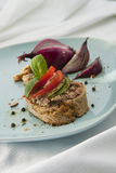 Pate Sandwich on Plate. Stock Image