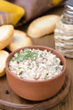 Pate of smoked fish with sour cream, herbs and toasted bread Stock Images