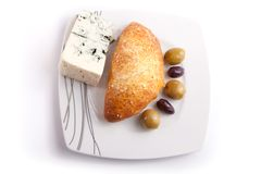 Pate stuffed with blue cheese Royalty Free Stock Images