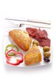 Pate stuffed Pastrami Royalty Free Stock Image
