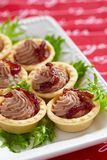 Pate tartlets Royalty Free Stock Images