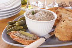 Pate with Toast Stock Image