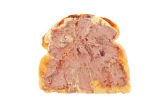 Pate on toast Stock Photography