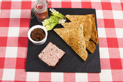 Pate and toast Royalty Free Stock Photos