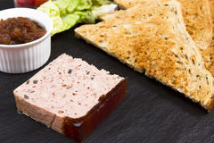Pate and toast Royalty Free Stock Image