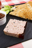 Pate and toast Stock Photos