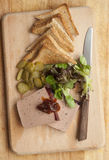 Pate with toasts Stock Image