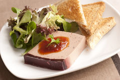 Pate with toasts Royalty Free Stock Photos