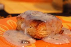 Pate topped mushroom sauce Stock Photography