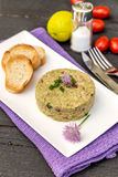 Pate tuna with avocado. A healthy snack concept Stock Image