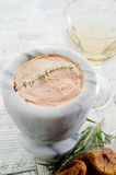 Pate and wine Stock Photography