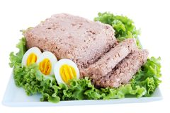 Free Pate With Eggs, Isolated Royalty Free Stock Photography - 26086107