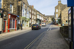 Pateley Bridge. A general view of the High Street in Pateley Bridge, North Yorkshire, England Royalty Free Stock Image