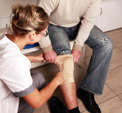 Patella knee support Royalty Free Stock Image