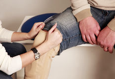 Patella knee support Royalty Free Stock Photography