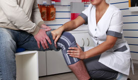 Patella knee support Royalty Free Stock Photos