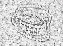 Patent fiska med drag i symbolet, sidadokumentstilsort Arkivbild