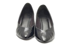 Patent-leather shoes Stock Image