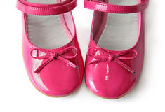 Patent leather shoes with bows Stock Photography