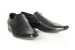 Patent-leather shoes on white Stock Photo