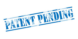 Patent pending blue stamp Stock Photo