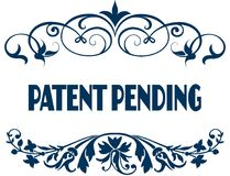 PATENT PENDING blue text frames. Royalty Free Stock Images