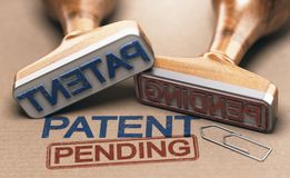 Patent Pending. Intellectual Property Concept royalty free stock photography