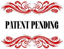 PATENT PENDING red floral text frame. Royalty Free Stock Photography