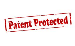 Patent protected. Rubber stamp with text patent protected inside,  illustration Stock Photos