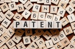 Patent word concept stock photos