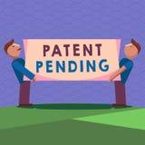 Patente de la escritura del texto de la escritura pendiente Petición del significado del concepto archivada ya pero no todavía co ilustración del vector