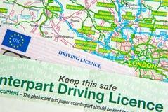 Patente di guida sul programma Fotografia Stock