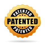 Patented gold vector seal. Icon Stock Photos