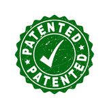 Patented Grunge Stamp with Tick royalty free illustration