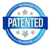 Patented intellectual property stamp Stock Image