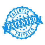 Patented seal vector icon Stock Image
