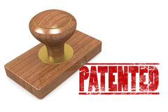 Patented wooded seal stamp Royalty Free Stock Image
