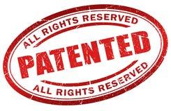patenterad stämpel stock illustrationer