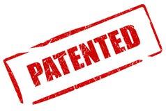 patenterad stämpel royaltyfri illustrationer
