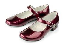 patenterade skor för läder Arkivbilder
